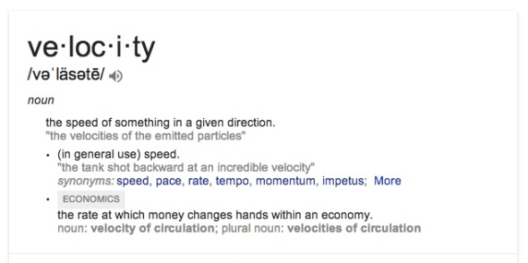 define velocity
